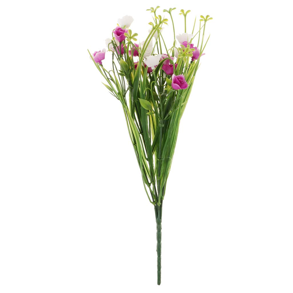 フラワーメール 造花 植物 春草 結婚式 パーティー 装飾 DIY ホームガーデン eb9584b37642b16f71801472c63ecece B07H2FQ748 ローズレッド