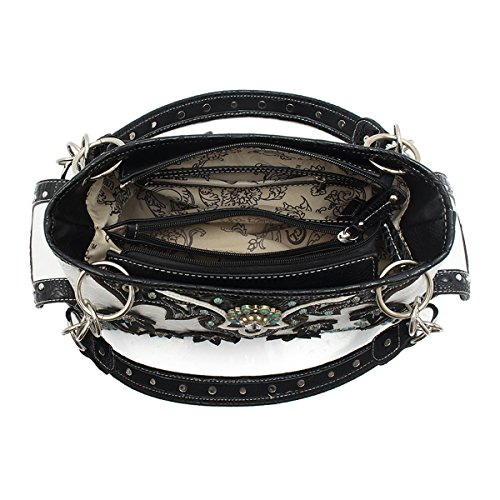 Bag Concho Blancho Wristlet Fiore Occidentale Black Bedding XFqUp
