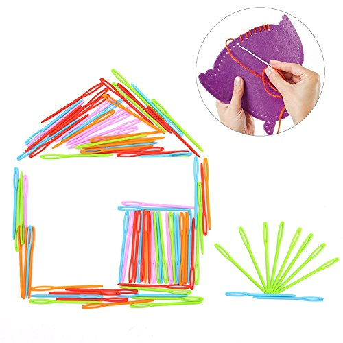 LoveInUSA 100 PCS Safety Plastic Lacing Needles for Sewing Handmade Crafts for $<!--$7.99-->