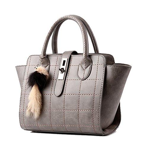 LOMOL Newest Girls Lovely Pendant Fashion Elegant Leather Tote Top-handle Handbag(C4)