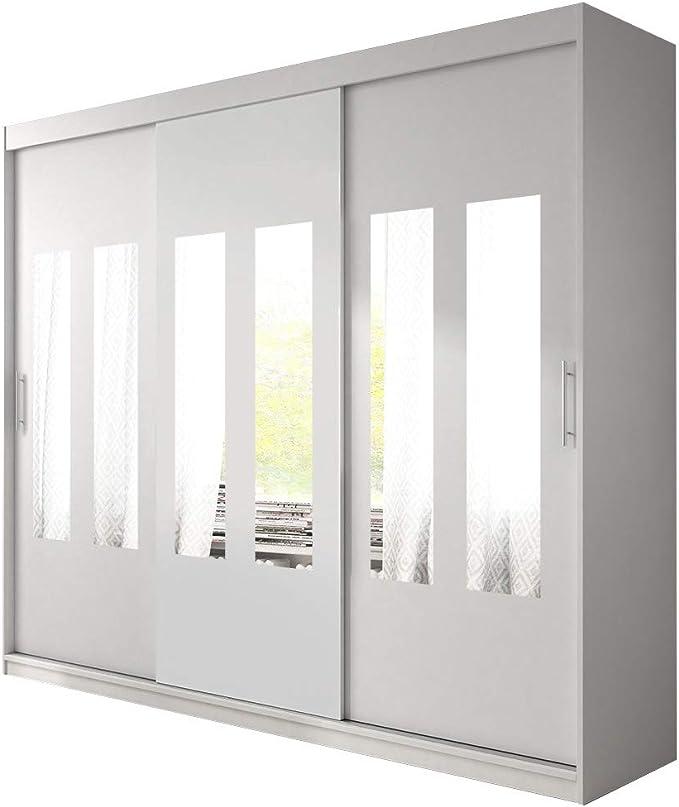 Alter GM Armario Moderno Grande con Puertas correderas, Espejos, estantes Colgantes, Armario, 3 dormitorios, Sala de Estar, Armario de 250 cm: Amazon.es: Hogar
