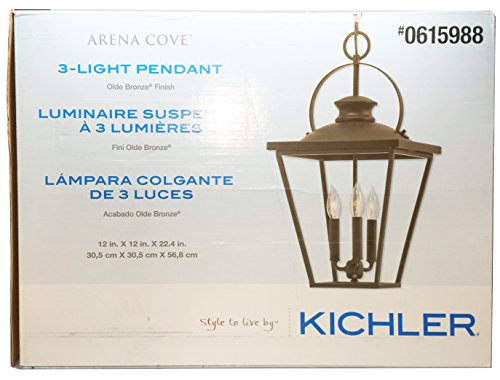 Kichler Arena Cove 12.01-in Olde Bronze Country Cottage Single Cage Pendant