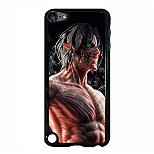Ipod Touch 5th Generation Cover Case Anime Attack on Titan Customized Shell Case With Eren Pattern
