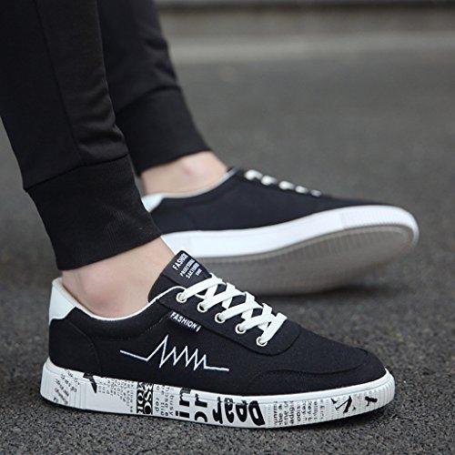 selvatici traspirante Bianca tela YaNanHome coreano Scarpe Brown scarpe Espadrillas scarpe di casual tela da scarpe di ragazzi stile Color basse 43 scarpe Nuove estate Size uomo UHrAq4Uw7n
