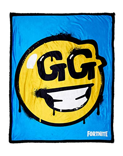 Fortnite GG Smiley Face Sherpa Fleece Blanket for $<!--$39.99-->