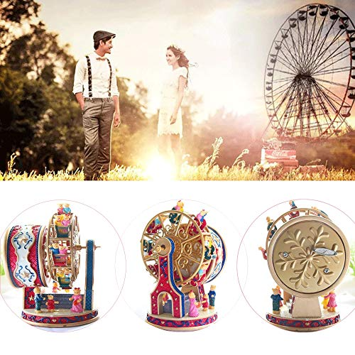 ASNOMY Personalized Rotating Ferris Wheel Music Box for Girls or Boys' Birthday, Music Box Melody Canon(Canon) by ASNOMY (Image #5)