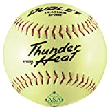 Dudley ASA Thunder Heat Slow Pitch Leather Ball - Size 12 - Pack of 12 by Dudley