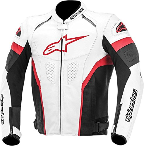 Alpinestars Leather Riding Jacket White