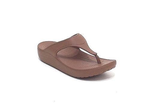 Crocs Zapatos Mujer, modelo Sloan 200486, Zapatillas Playa de goma, color bronze Marrón Size: 35: Amazon.es: Zapatos y complementos