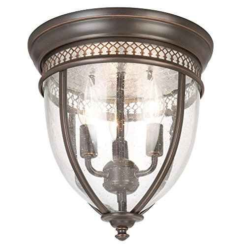 Bay Outdoor Flush Mount - Hampton Bay HLU8013A-2 Oil Rubbed Bronze Flush Mount, See Picture