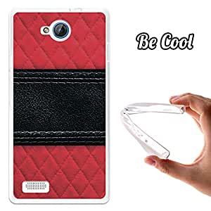 BeCool® - Funda Gel Flexible Meo Smart A40 Cuero Línea Negra Carcasa Case Silicona TPU Suave