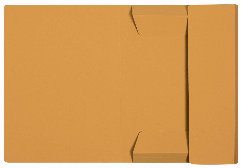 ELBA 100091160 Einschlagmappe Smart Line 25er Pack aus Karton mit 3 Innenklappen f/ür DIN A4 gelb ideal f/ürs B/üro und die mobile Organisation