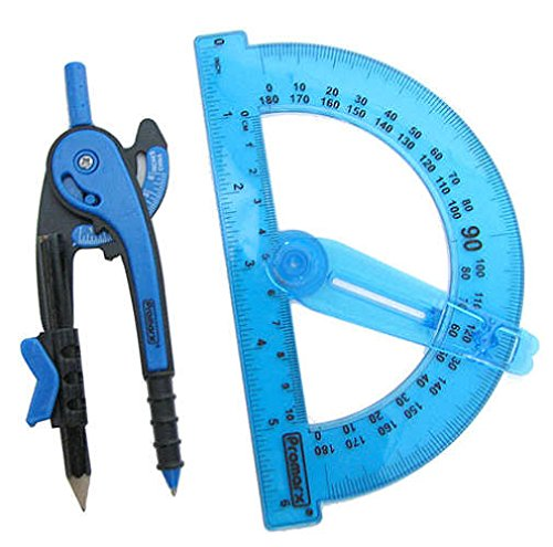 Promarx Geometry Set (Protractor and Compass)