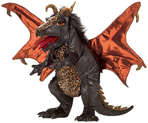 Folkmanis Dragon Hand Puppet Plush, Black Dragon Plush Hand Puppet