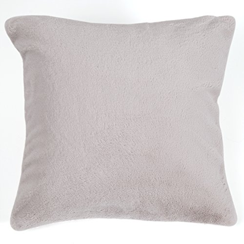 Best Home Fashion Luxe Faux Fur Pillow Cover – 18″W x 18″L – (2 Pillow covers) (Taupe) Review