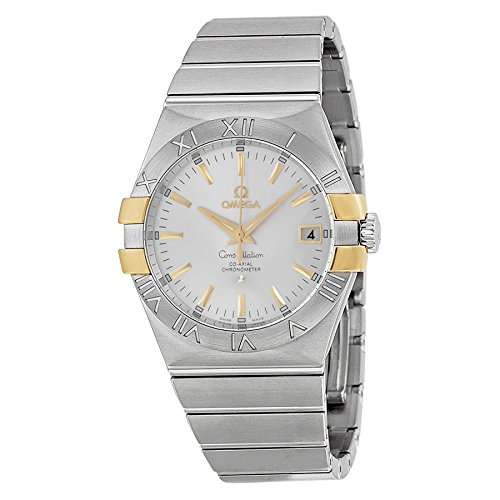 - Omega Constellation Silver Dial Steel and Yellow Gold Ladies Watch 12320352002004