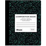 Quad-ruled Green Marble Composition Book - 100 Ct. 5-1 Inch (Pack of 6)