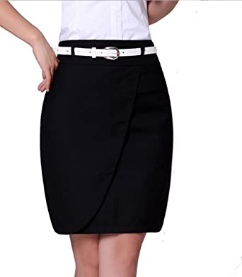 16485872b6bb YGT Women's Cotton Mini Skirt Office Wear Above Knee Pencil Skirt at Amazon  Women's Clothing store: