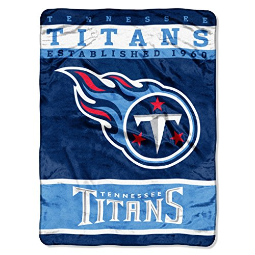 Tennessee Titans Blanket - The Northwest Company Officially Licensed NFL Tennessee Titans 12th Man Plush Raschel Throw Blanket, 60
