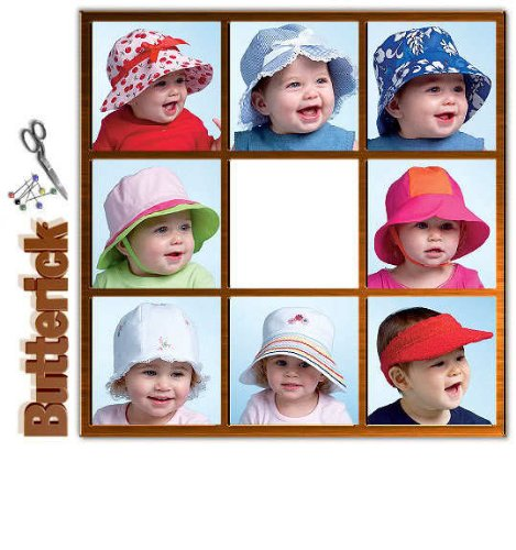 BUTTERICK B4531 INFANT, BABY HATS (8 STYLES) BOYS & GIRLS ~ SEWING PATTERN