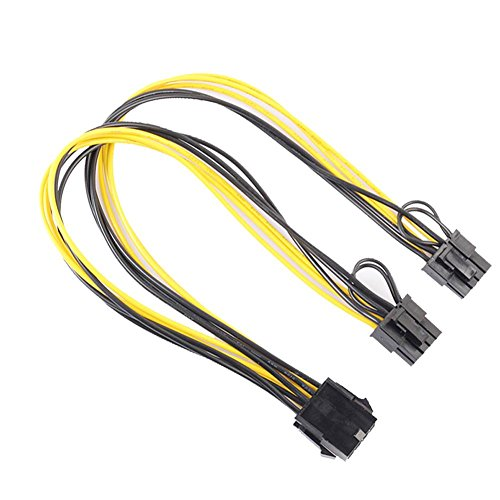 8Pin to Graphics Video Card Double PCI-E 8Pin(6Pin+2Pin)Power Supply Cable by TTnight (Dual Video Cards Sli)