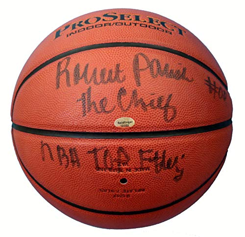 - Robert Parish Boston Celtics Hall of Fame Signed Autographed Wilson Basketball JSA COA