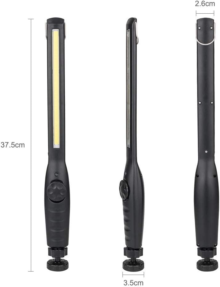 WINDFIRE Lampada da Lavoro LED Ricaricabile Allaperto Emergenza Uso Lampade di Ispezione Torcia a 360 Gradi Luce di Lavoro LED con Base Magnetica e Gancio per la Riparazione di Auto Campeggio