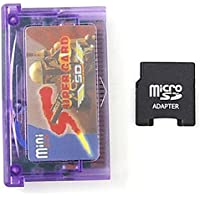 LanLan Accessoires pour Jeux vidéo Mini Super Carte & SD Carte Flash Adaptateur Cartouche 2 GB Jeu De Sauvegarde de Jeu pour GBA SP GBM IDS NDS NDSL (avec Couverture de la Carte)