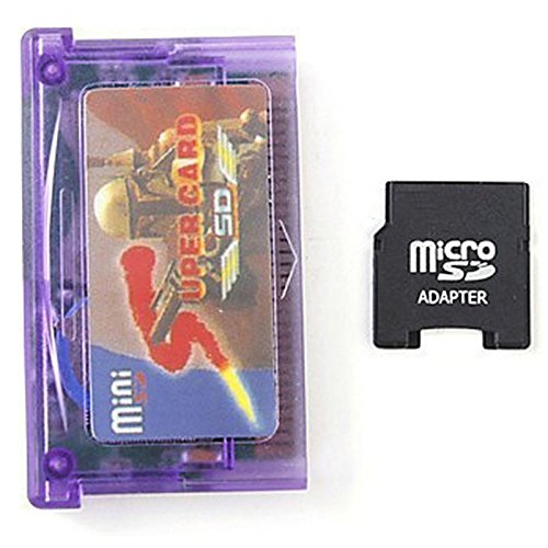 Ocamo Mini Super Card SD Flash Card Adapter Cartridge 2GB Game Backup Device for GBA SP GBM IDS NDS NDSL (with Card (Nds Cartridge)