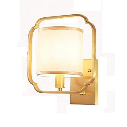 Amazon.com: Lámpara de pared de latón estilo chino ...