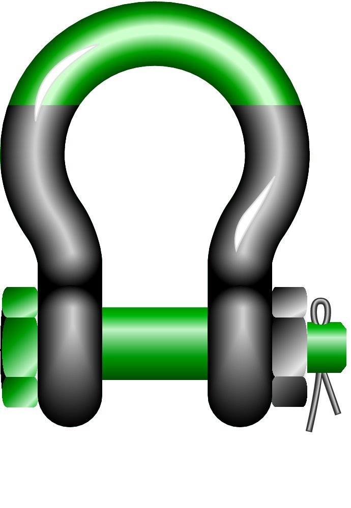 G-5263 120 t WLL Green Pin SUGHMB83 Super Bow Shackles with Safety Bolt