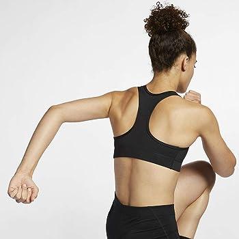 Nike Sport BH Shape Swoosh 2.0 Bra Sujetador Deportivo, Mujer ...