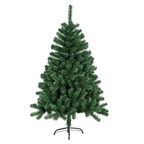 SAILUN 180cm künstlicher Weihnachtsbaum Christbaum Tannenbaum mit Metallständer, Minutenschneller Aufbau mit Klappsystem (180cm, Grün PVC)