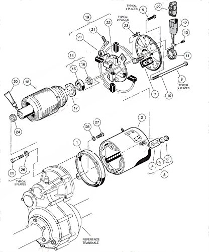 1980 Yamaha Golf Cart Starter Generator Wiring Diagram