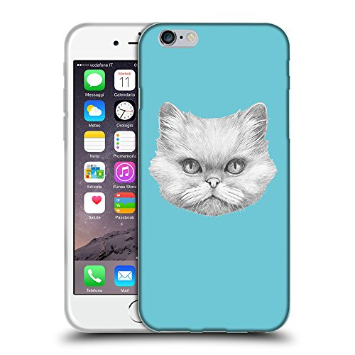 GoGoMobile Coque de Protection TPU Silicone Case pour // Q05330627 chat persan Cyan // Apple iPhone 6 PLUS 5.5""