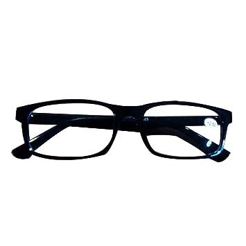 0e046f9621 19StyleDollar Specs Rectangular Reading Glasses Crystal Clear Len Men Black  Eyeglasses All Magnification Strengths (1.50