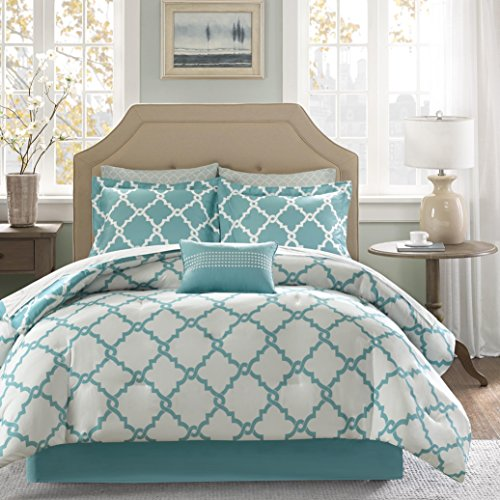 Empire Home Galaxy Oversized Comforter Set Soft 10 Piece Bed in a Bag 4 Colors ALL Sizes - New ARRIval SALE! (Full Size, Turquoise)