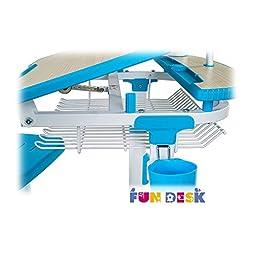 FD FUN DESK Children's Ergonomic Study Desk & Chair Set in COLORE (BLUE)