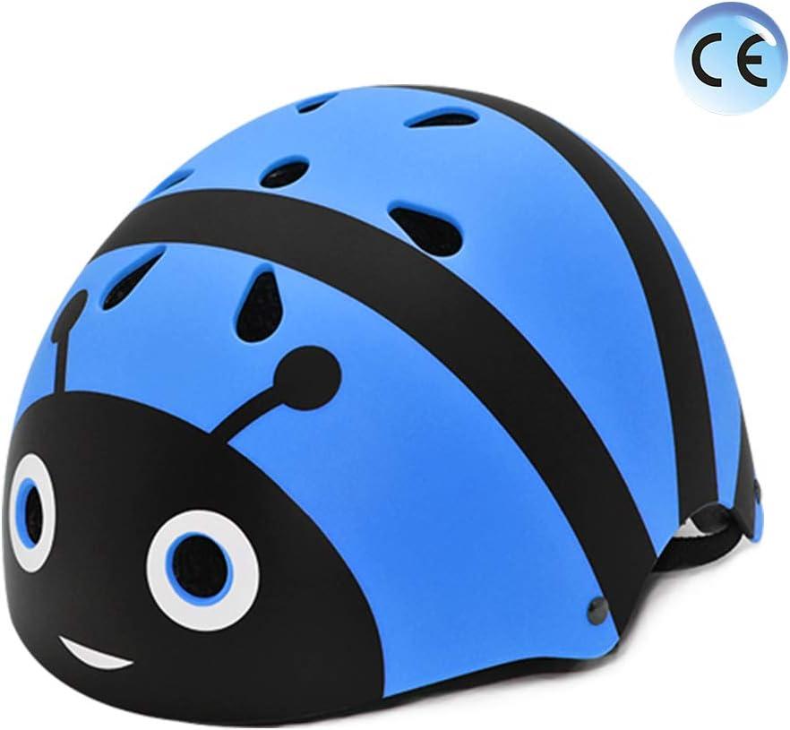 YGJT Casco Bicicleta Niños Protección de Cabeza de Seguridad de Dibujos Animados S 50-54CM para Niños de 2-5 Peso Ligero Transpirable para para Bicicleta/Patineta/Scooter