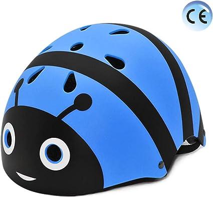 YGJT Casco Bicicleta Niños Protección de Cabeza de Seguridad de Dibujos Animados M 55-58CM para Niños de 2-5 Peso Ligero Transpirable para para Bicicleta/Patineta/Scooter: Amazon.es: Deportes y aire libre
