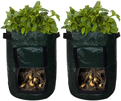 Potato Planter Bags – Garden Tub for Vegetable Growing with Flap Access – 2 Pack