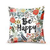 Throw Pillow Covers, E-Scenery Clearance Sale! Thanksgiving Square Decorative Throw Pillow Cases Cushion Cover for Sofa Bedroom Car Home Decor, 18 x 18 Inch (E)