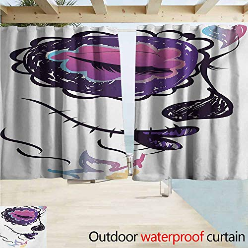 AndyTours Window Curtains,Day of The Dead Sugar Skull Girl Face with Make Up Hand Drawn Mexican Artwork,Rod Pocket Energy Efficient Thermal Insulated,W55x63L Inches,Pale Orange Plum Seafoam ()