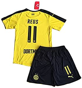 Borussia Dortmund 2016-2017 Reus #11 Kids/Youths Home Soccer Jersey & Shorts Set (7-8 years)