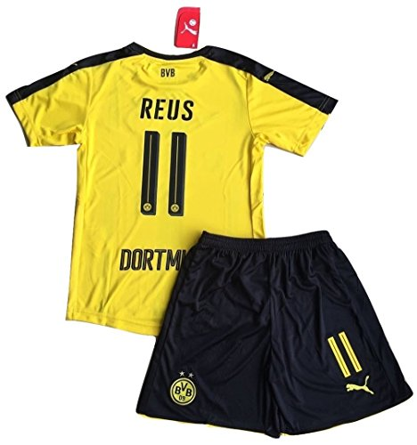 Borussia Dortmund 2016-2017 Reus #11 Kids/Youths Home Soccer Jersey & Shorts Set (9-10 years)