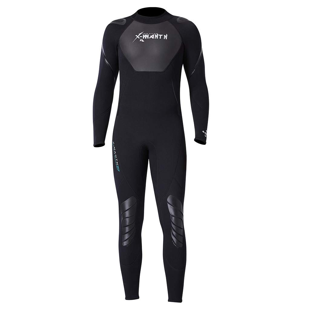 Wetsuit Men Diving Suit Suit Long Sleeves Surfing Suit UV Protect Snorkeling Suit One Piece Kayaking Alalaso Black by Alalaso Mens Swimwear