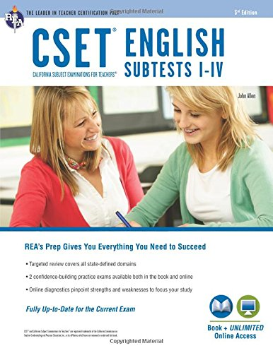 CSET English Subtests I-IV Book + Online (CSET Teacher Certification Test Prep)