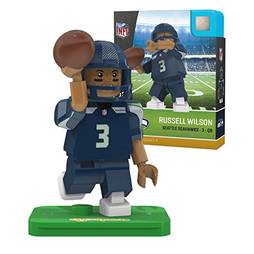 NFL Seattle Seahawks Gen4 Limited Edition Russell Wilson Mini Figure, Small, White by OYO