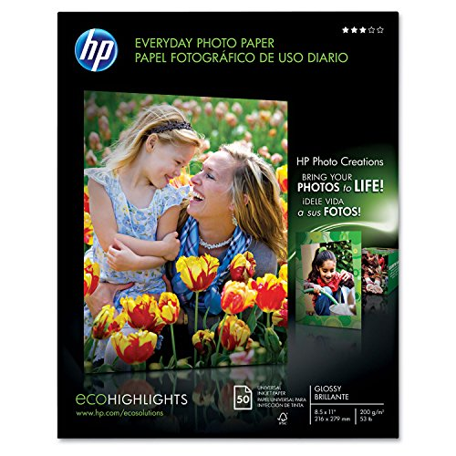 Hewlett Packard (HP) Q8723A Glossy Everyday Photo Paper (8.5'' x 11'') by HP