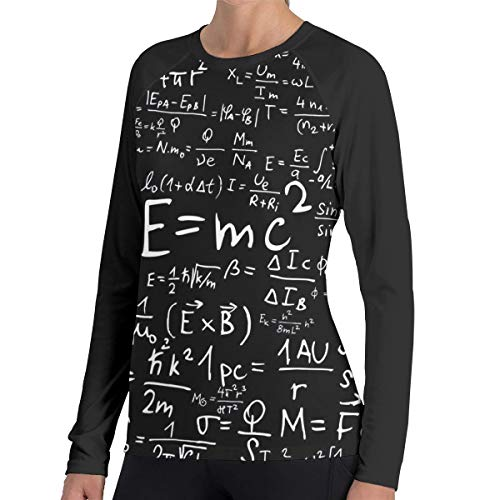 Crazy Popo Women's Casual Mathematics Long Reglan Jersey Baseball T-Shirt